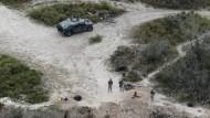 Nationalgardisten patrouillieren am Rio Grande an der texanisch-mexikanischen Grenze