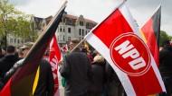 Demonstration der rechtsextremen NPD im vergangenen Mai in Erfurt