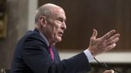 Der Direktor des amerikanischen Nationalen Geheimdienstes Daniel Coats bei einer Anhörung vor dem Senat in Washington am 23. Mai 2017.