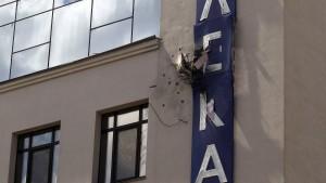 Fernsehsender in Kiew mit Granatwerfer beschossen