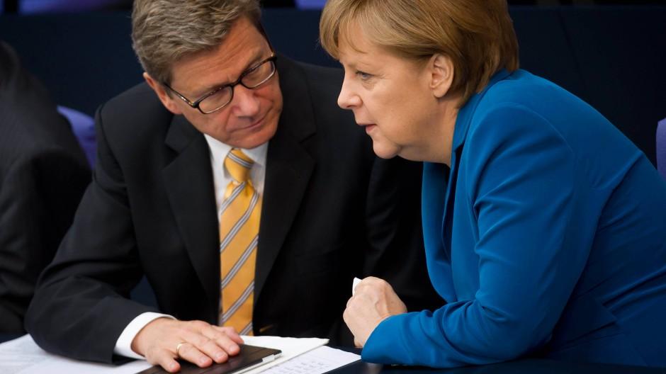 Wunschpartner, aber im Regierungsalltag knirscht es allzu oft: Guido Westerwelle und Angela Merkel
