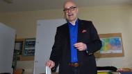 Siegessicher: Noch-Ministerpräsident Thorsten Albig bei der Stimmabgabe