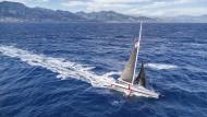 """Gegenseitiges Kennenlernen: Boris Herrmann verbringt derzeit fast jeden Tag mit seiner Yacht """"Malizia"""" auf dem Meer."""