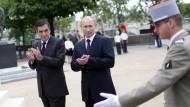 Fillon und Putin bei einem Treffen 2011