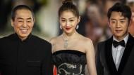 """Zhang Yimou (links), der Fachmann für geschmackvoll Übertriebenes, mit den Schauspielern Guan Xiaotong und Kai Zheng bei der Pressevorführung von """"Ying"""""""
