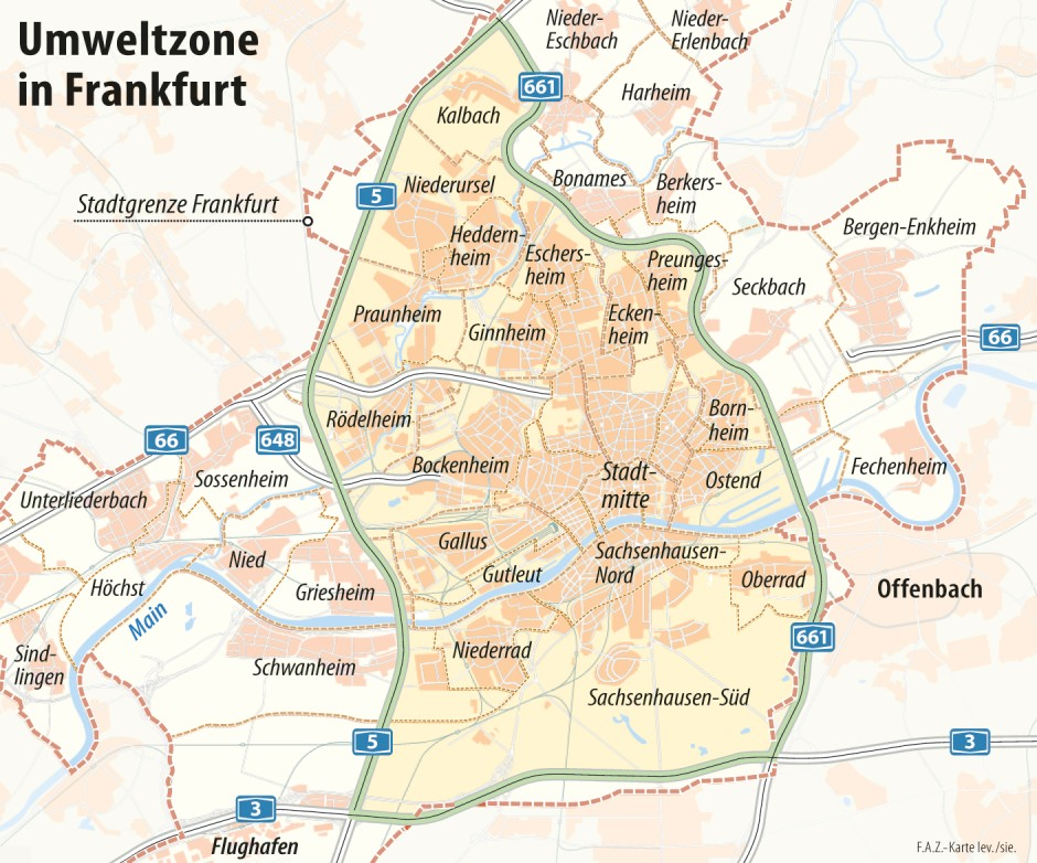 Umweltzone Leipzig Karte.Faq Zum Diesel Fahrverbot In Frankfurt