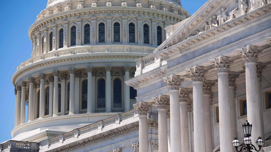Das Kapitol, der Sitz des amerikanischen Parlaments in Washington