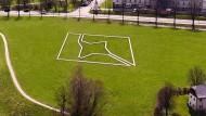 Paul Wallachs Kunstwerk aus der Luft
