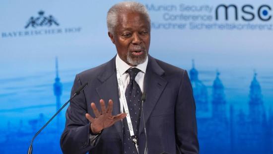 Kofi Annan mit Morgan Freeman verwechselt