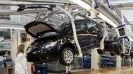 Fertigungsstraße in Wolfsburg für den VW-Polo