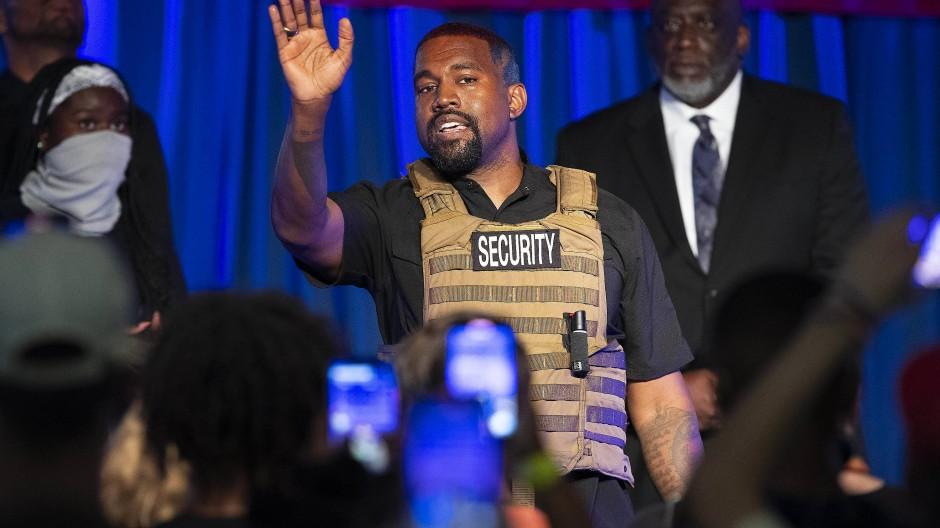 Rapper Kanye West macht Wahlkampf
