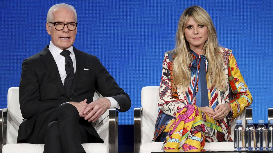Heidi Klum und Tim Gunn bei einem ihrer ersten Auftritte in ihrer neuen Show Making the Cut.