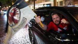 Eintracht- Fans feiern Pokalsieg
