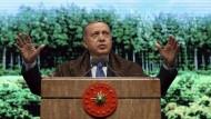 """Türkischer Präsident Erdogan: Eine besonders negative Entwicklung sieht die Bertelsmann-Studie bei der """"defekten Demokratie"""" am Bosporus"""