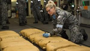 Australische Marine findet Drogen im Wert von einer Viertelmilliarde Euro