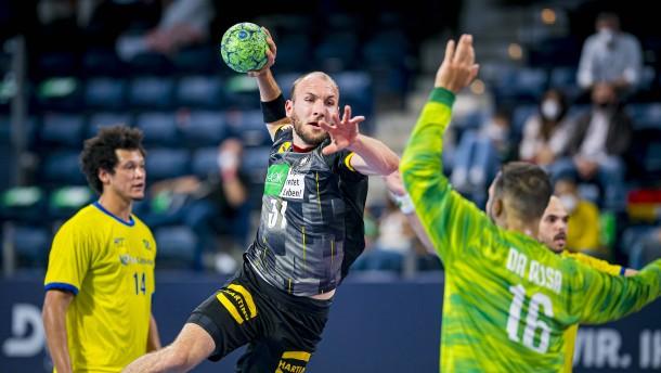 Deutsche Handballer schlagen Brasilien deutlich
