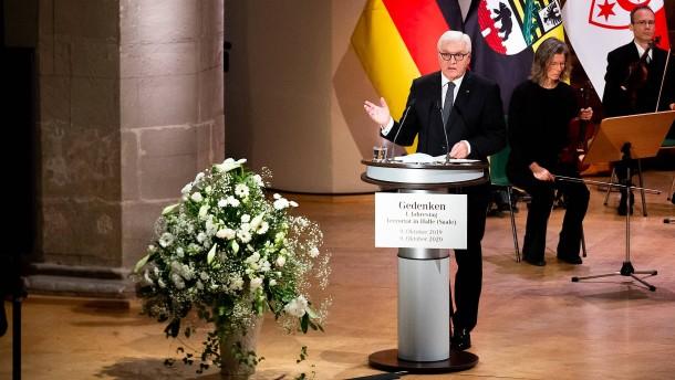 Steinmeier gedenkt Opfern von Halle