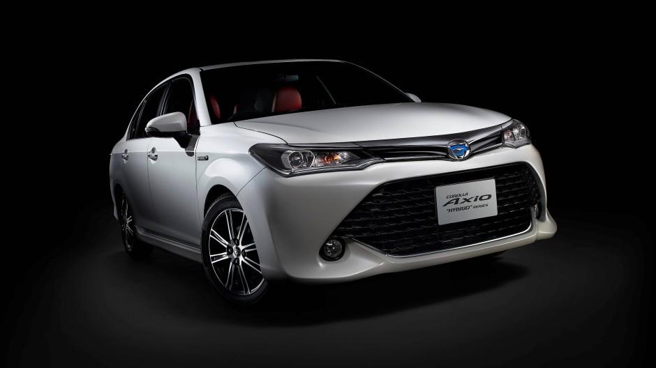 Stein des Anstoßes: Ein Modell des Toyota Corolla