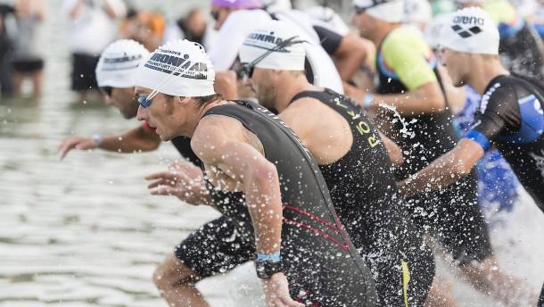 Den Triathleten steht eine Hitzeschlacht bevor