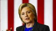 In Wisconsin war sie schon lange nicht mehr: Hillary Clinton Ende März bei einem Auftritt in Madison