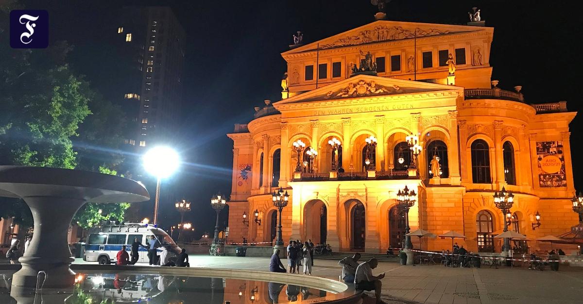 Frankfurter Opernplatz Randale