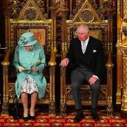 Weniger Pomp als sonst: Queen Elizabeth und Prinz Charles am Donnerstag im britischen Oberhaus