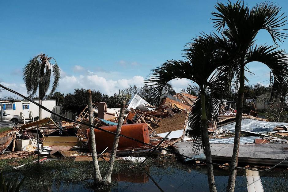 Spuren der Verwüstung in Naples, Florida