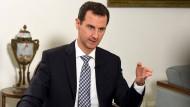 Baschar al Assad bei einem Interview mit der spanischen Zeitung El Pais am 20. Februar 2016