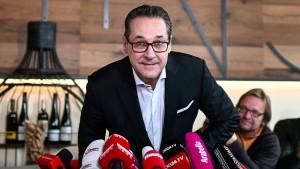 FPÖ suspendiert Heinz-Christian Strache
