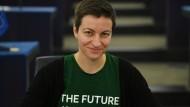 Höchstens ein angedeutetes Klatschen: Ska Keller, Fraktionsvorsitzende der Grünen im Europaparalemt