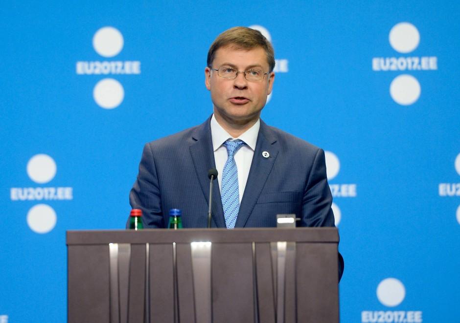 Der für Finanzmärkte zuständige Vizepräsident der EU-Kommission Valdis Dombrovskis.