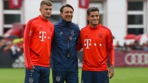 Coutinho lernt seine neuen Kollegen kennen