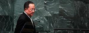 Entschlossen: Nordkoreas Außenminister am Samstag bei seiner Rede vor der UN-Vollversammlung.
