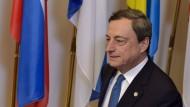 EZB-Präsident Mario Draghi nach dem Griechenland-Treffen am Rande des EU-Gipfels in Brüssel
