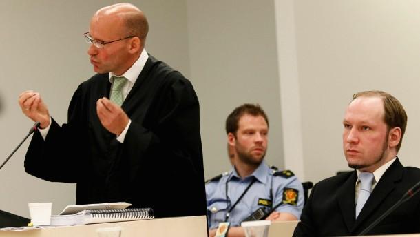 Verteidigung fordert Freispruch Breiviks