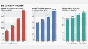 Infografik / Die Datenwolke wächst