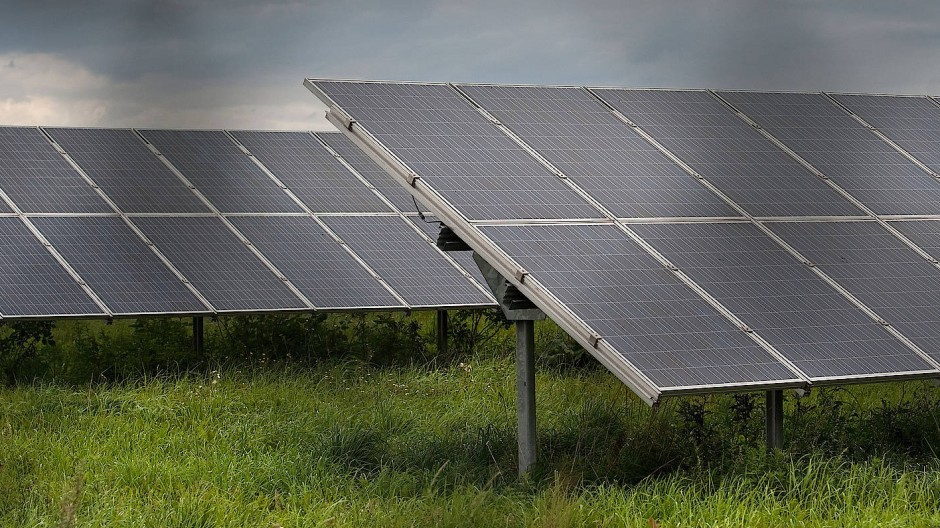 Eine Solaranlage in Bitterfeld, wo Meyer Burger investieren wird.