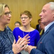 Löst Anke Rehlinger von der SPD (l.) Ministerpräsidentin Annegret Kramp-Karrenbauer (CDU) in der Saarbrücker Staatskanzlei ab – mit der Hilfe von Oskar Lafontaine und der Linkspartei?