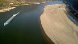 Niedrigwasser im Rhein wird zum Problem
