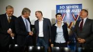 Gekommen, um zu bleiben: Die Führung der AfD am Tag nach der Wahl in Mecklenburg-Vorpommern.