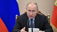 Wladimir Putin am Montag in Moskau.