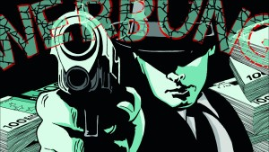 Werbebanner mit Mafia-Methoden