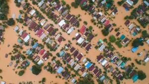 Luftbilder zeigen Überschwemmungen in Myanmar
