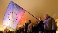 Proteste gegen Stopp der Verhandlungen mit der EU