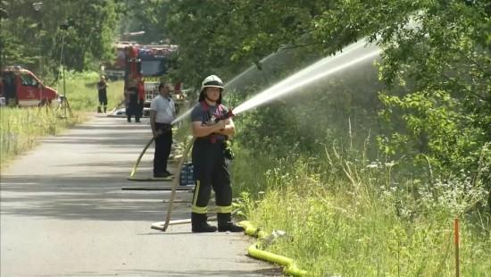 Waldbrand bei ehemaligem Munitionsdepot