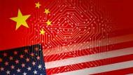 Amerika gegen China in der Frage nach der Vorherrschaft in Sachen Tech-Aktie