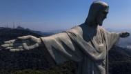 Jesus-Statue über der Stadt Rio den Janeiro in Brasilien