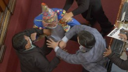 Prügelei im Parlament