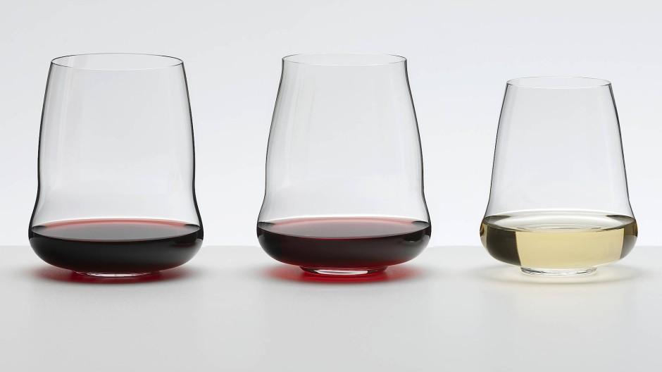 SL Riedel Stemless Wings für die Rebsorten Cabernet Sauvignon, Pinot Noir und Riesling