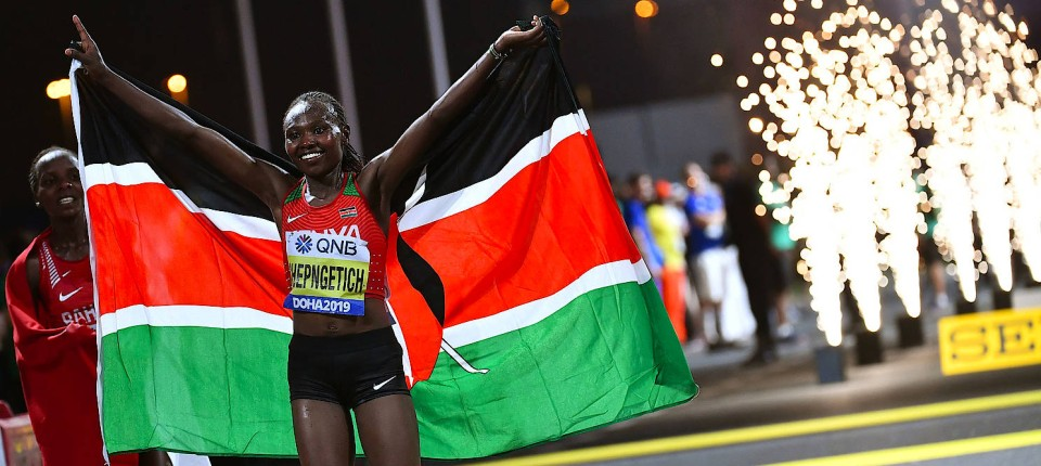 Doha Marathon Chepngetich Macht Erst Beim Interview Schlapp